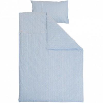 Housse de couette et taie blue leaves 100 x 140 et 40 x 60 cm par little dutch - Housse de couette 100 x 120 ...