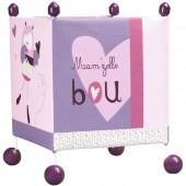 Lampe cube à poser Mam'zelle Bou - Sauthon Baby Déco