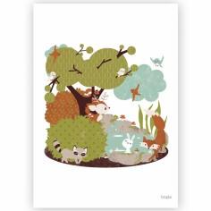 Affiche A4 La forêt
