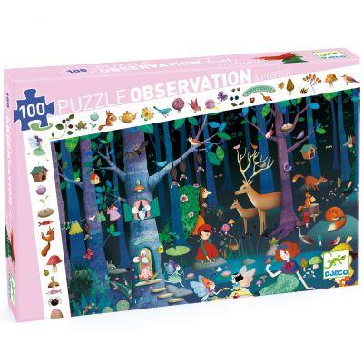Puzzle d'observation La forêt enchantée (100 pièces)  par Djeco