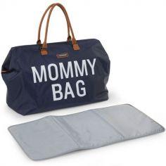 Sac à langer à anses Mommy bag bleu marine