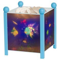 Lanterne magique ''Poisson Arc en ciel'' bleue