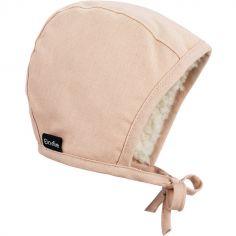 Bonnet vintage béguin Powder Pink (3-6 mois)