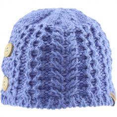 Bonnet en tricot avec boutons bleu (0-6 mois)