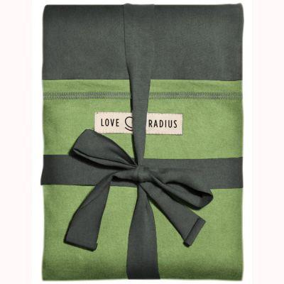 Echarpe de portage L'Originale gris vert poche pistache Je Porte Mon Bébé / Love Radius