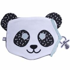 Doudou plat attache sucette Panda