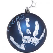 Boule de Noël décorative bleue fairy avec kit empreinte  par Baby Art