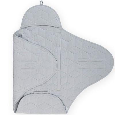 Couverture nomade Graphic quilt gris (0-24 mois)  par Jollein