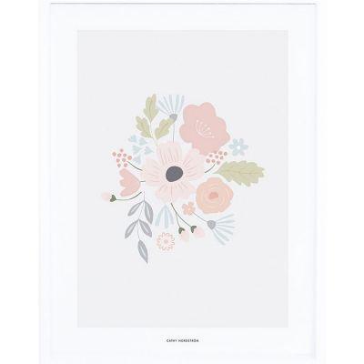 Affiche encadrée bouquet rond (30 x 40 cm)  par Lilipinso
