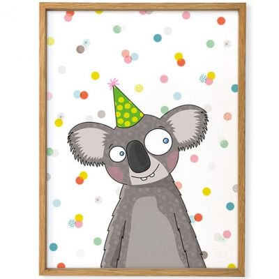 Affiche encadrée Koala (30 x 40 cm)  par Série-Golo