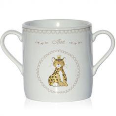 Tasse en porcelaine Léopard (personnalisable)