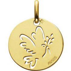 Médaille Colombe ajourée 15 mm (or jaune 750°)