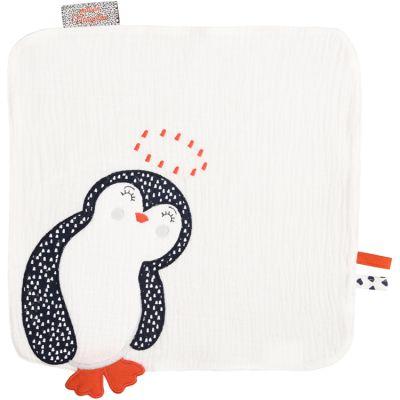 Doudou plat Pingouin blanc  par Nougatine