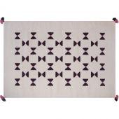 Tapis de laine Kilim noeuds graphiques (110 x 160 cm) - Art for Kids