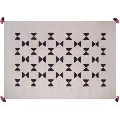 Tapis de laine Kilim noeuds graphiques (110 x 160 cm)