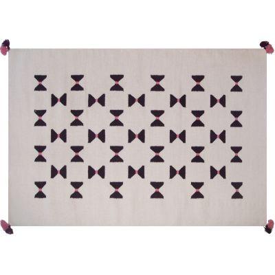 Tapis de laine Kilim noeuds graphiques (110 x 160 cm) Art for Kids