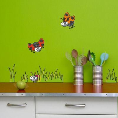 Stickers muraux 3 coccinelles  par Série-Golo