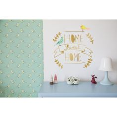 Sticker doré Home sweet home