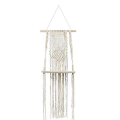 Mini étagère bohème macramé ivoire  par Arty Fêtes Factory