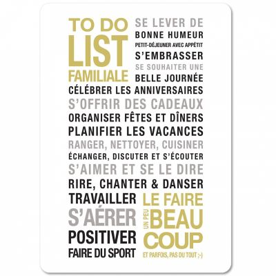 Carte To Do List (15 x 21 cm) Mes Mots Déco