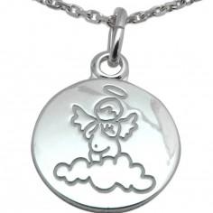Médaille Ange nuage 14 mm (argent 925°)