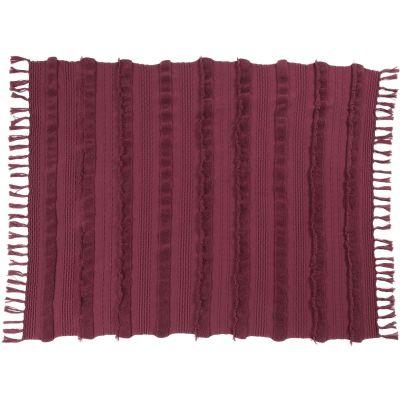Couverture en coton Savannah bordeaux (125 x 150 cm)  par Lorena Canals
