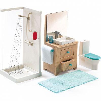Mobilier pour poupée La salle de bain Djeco
