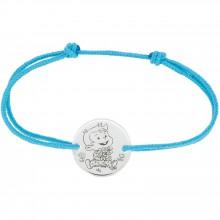 Bracelet cordon enfant Rêveur (or blanc 375°)  par La Fée Galipette