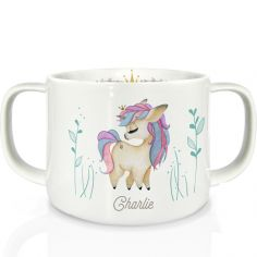 Tasse en porcelaine Licorne (personnalisable)