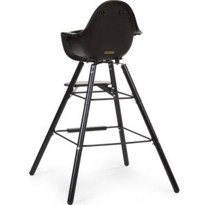 Kit de pieds longs pour chaise haute Evolu + repose pieds en bois naturel noir et or