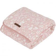 Couverture de lit pure & soft Adventure pink (110 x 140 cm)  par Little Dutch