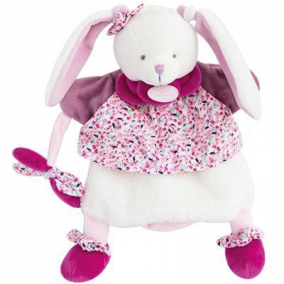 Doudou marionnette Cerise lapin (28 cm) Doudou et Compagnie