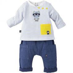 Ensemble 2 pièces avec pantalon Chat (12 mois)