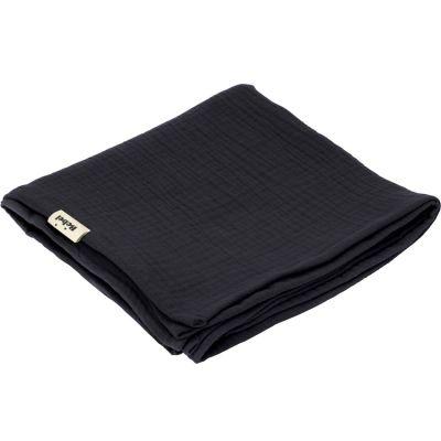 Lange en coton noir réglisse (90 x 90 cm)  par BEBEL
