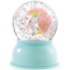 Boule à neige lumineuse Licorne