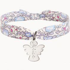 Bracelet enfant Liberty avec ange personnalisable (argent 925°)
