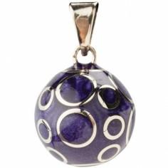 Bola violet spirales argentées
