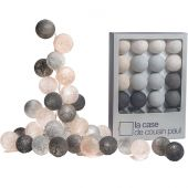 Coffret guirlande lumineuse L'Original Brooklyn gris perle - La case de cousin paul