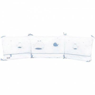 Tour de lit Blue baleine (pour lits 60 x 120 et 70 x 140 cm)  par Sauthon