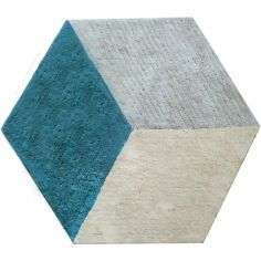Tapis Cube bleu (110 x 140 cm)