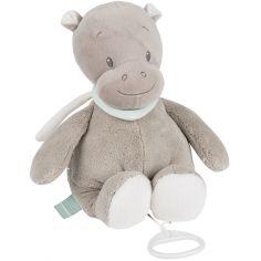 Doudou musical à suspendre hippopotame Hippolyte (30 cm)