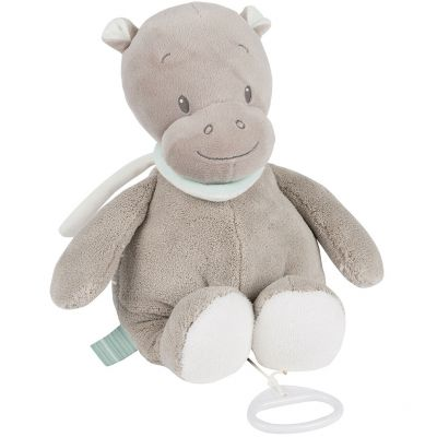 Doudou musical à suspendre hippopotame Hippolyte (30 cm) Nattou