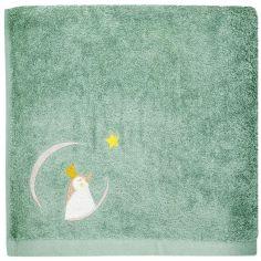 Serviette de bain vert d'eau Pingouin personnalisable (50 x 100 cm)