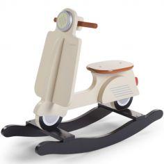 Scooter à bascule crème