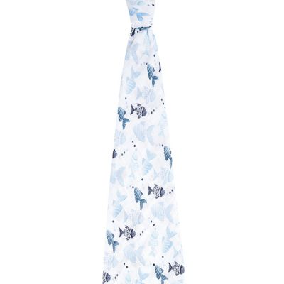 Maxi lange en mousseline de coton Gone fishing (120 x 120 cm)  par aden + anais