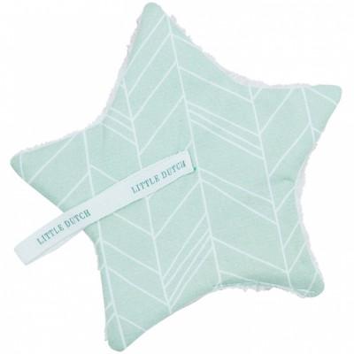 doudou attache sucette mint leaves par little dutch. Black Bedroom Furniture Sets. Home Design Ideas