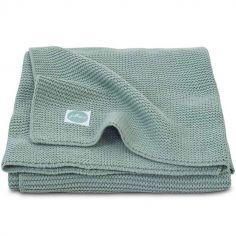 Couverture Basic knit vert d'eau (75 x 100 cm)
