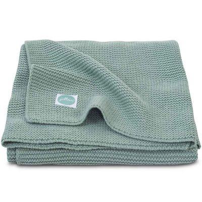 Couverture Basic knit vert d'eau (75 x 100 cm)  par Jollein