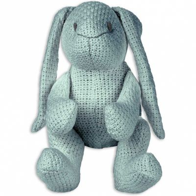 Peluche lapinou Robust Maille gris vert (30 cm) Baby's Only