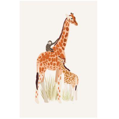 Affiche Girafe (60 x 40 cm)  par Mimi'lou